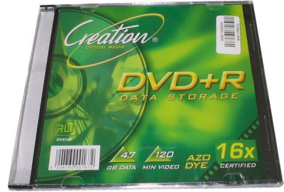 DVD+R 4.7 gb 16x , 120 min  slim case  - Creation