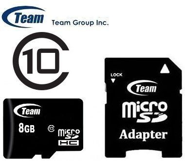 Μνήμη Micro με adaptor  SD 8 gb  class 10  - Team group