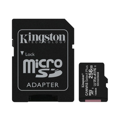 Μνήμη Micro Secure Digital με adaptor sd 16gb -Kingston canvas 100 mb/s