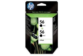 Ηewlett  Packard - Inkjet Cartridges C6656a Black #56 Διπλή συσκευασία