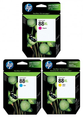 Ηewlett  Packard  - Inkjet Cartridges C9391A-92A-93A  #88XL (3colours)