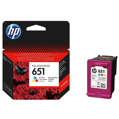 Hewlett Packard-Inkjet Cartridge-CP210AE Color # No 651