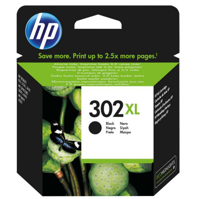 Hewlett Packard-Inkjet Cartridgel F6U68A Black # 302XL