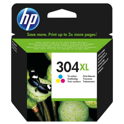 Hewlett Packard-Inkjet Cartridge N9K07AE Color # 304XL