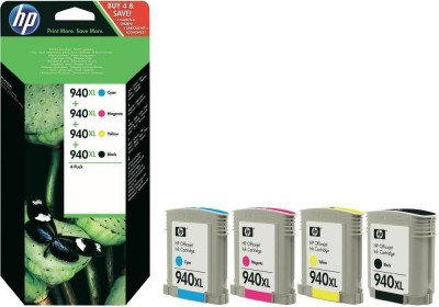Ηewlett Packard - set 4  colours inkjet cartridges multipack  C4906AE  940xl