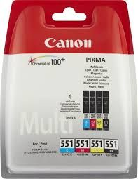 Canon Inkjet Catr. Color  C/M/Y/ΒΚ CLI-551 Multipack