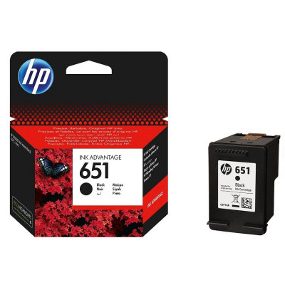 Hewlett Packard-Inkjet Cartridge-CP210AE Black # No 651