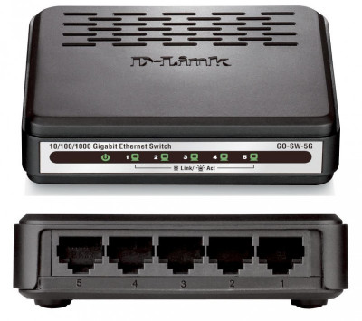 Switch  5- port  10/1000 Mbps - D-link  Go-Sw-5g